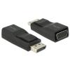 DELOCK DisplayPort VGA/D-Sub Átalakító Fekete 6cm 65653