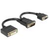 DELOCK DMS-59 -> DVI-I VGA M/F adapter 0.2m fekete