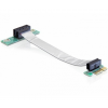 DELOCK emelő kártya PCI Express x1 flexibilis kábe