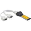 DELOCK Express Card - Soros port adapter (2 férőhelyes)