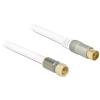 DELOCK F -> IEC RG-6/U M/F antenna kábel 2m Premium fehér