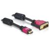 DELOCK HDMI – DVI átalakító kábel, 5.0m, apa/apa