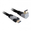 DELOCK HDMI Ethernet M/M video jelkábel 2m 4K fekete