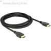 DELOCK HDMI Ethernet M/M video jelkábel 2m 4K High Speed fekete