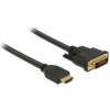 DELOCK HDMI to DVI 24+1 cable bidirectional 0.5 m