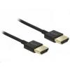 DELOCK kábel HDMI male/male összekötő 3D 4K Slim Premium, 1m 84771