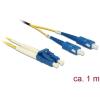 DELOCK Kábel, optikai szálas LC > SC egyszeres OS2, 1 m