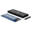 DELOCK Külso merevlemezház M.2 NGFF SSD > USB 3.1