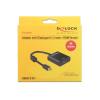 DELOCK mini Displayport 1.2 (M) - HDMI (F) 20cm 4K Aktív fekete adapter