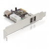 DELOCK PCI-E x1 - 2+1 portos FireWire A IO vezérlő