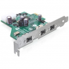 DELOCK PCI-E x1 - 3 portos FireWire B IO vezérlő