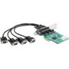 DELOCK PCI-E x1 - High Speed 921K 4 portos soros port IO vezérlő