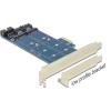 DELOCK PCI-E x1 - M.2 NGFF 2 portos IO vezérlő