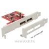 DELOCK PCI Express Card > 2 x eSATA 6 Gb/s with RAID - Low Profile Form Factor