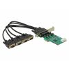 DELOCK PCI Express -> 4 x RS-232 bővítőkártya (LP)