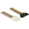 DELOCK Power Cable SATA 15 pin male 4 pin female 30 cm