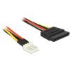 DELOCK Power Cable SATA 15 pin male > 4 pin floppy male 24 cm