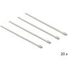 DELOCK Rozsdamentes acél kábelkötegelők, 200 x 4,6 mm (H x Sz), 20 darab