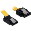 DELOCK SATA 3 F/F adatkábel 0.5m up/straight sárga