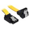 DELOCK SATA 3 F/F adatkábel 0.7m fel/le sárga