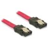 DELOCK SATA cable 50cm straight/straight metal red