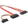 DELOCK SATA Express 18pin SATA Power -> SATA Express 29pin F/F adatkábel 0.3m