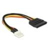 DELOCK SATA tápkábel 15 pin (M) - 4 pin floppy (M) 15 cm
