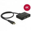 DELOCK Splitter HDMI 1x HDMI in 2x HDMI out 4K, 60cm kábellel
