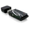 DELOCK USB 2.0 18-in-1 kártyaolvasó fekete