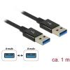 DELOCK USB 3.1 A Gen 2 M/M adatkábel 1m fekete