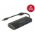 DELOCK USB 3.1 Gen 1 Type-C HUB 3x USB 3.0 Type-A + 1x HDMI (DP Alt Mode) 4K 30Hz