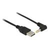 DELOCK USB A -> DC 4.0 x 1.7 mm M/M tápkábel 1.5m fekete