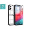 Devia Apple iPhone 12 Mini ütésálló hátlap - Devia Shark-4 Series Shockproof Case - black/transparent