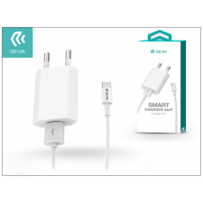 Devia Apple iPhone 5/5S/5C/SE/6S/6S Plus USB hálózati töltő adapter + lightning adatkábel - 5V/1A - Devia Smart Charger Suit - white mobiltelefon kellék
