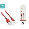 Devia Apple iPhone 5/5S/5C/SE/iPad 4/iPad Mini USB töltő- és adatkábel - 2 m-es vezetékkel - Devia Pheez Lightning USB 2.1A - red