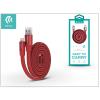 Devia Apple iPhone 5/5S/5C/SE/iPad 4/iPad Mini USB töltő- és adatkábel 80 cm-es vezetékkel - Devia Ring Y1 Lightning USB 2.4 - red