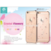 Devia Apple iPhone 6/6S hátlap Swarovski kristály díszitéssel - Devia Crystal Flowery - champagne gold