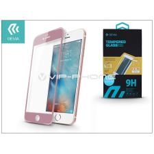 Devia Apple iPhone 6/6S üveg képernyő- + Crystal hátlapvédő fólia - Devia Jade Full Screen Tempered Glass 0.18 mm - 1 + 1 db/csomag - rose gold tok és táska