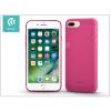 Devia Apple iPhone 7 Plus/iPhone 8 Plus szilikon hátlap - Devia Jelly Slim Leather 2 - pink