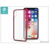 Devia Apple iPhone X hátlap - Devia Luxurious - red/transparent