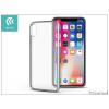 Devia Apple iPhone X hátlap - Devia Luxurious - silver/transparent