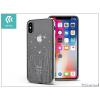 Devia Apple iPhone X hátlap Swarovski kristály díszitéssel - Devia Crystal Meteor - silver/transparent