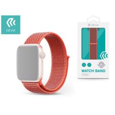 Devia Apple Watch lyukacsos sport szíj - Devia Deluxe Series Sport3 Band - 42/44 mm - nectarine tok és táska