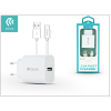 Devia Devia Smart USB hálózati töltő adapter + USB Type-C kábel 1 m-es vezetékkel - Devia Smart USB Fast Charge for Type-C 2.0 - 5V/2,1A - white