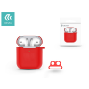 Devia Devia szilikon tok AirPods fülhallgatóhoz - Devia AirPods v.2 Naked Silicone Case Suit for AirPods (whit loophole) - red