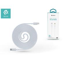 Devia USB Type-C - Lightning adat- és töltőkábel 1 m-es vezetékkel - Devia Smart Series PD Cable for Lightning - 3.0A - white kábel és adapter