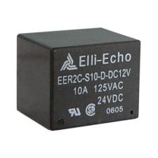 DIAMEC Elli-Echo EER2-12 12 V-os relé morze: 10A. - Téglatest alakú beforrasztható kivitel, megbízható, gyors és biztos működés, hosszú élettartam. biztonságtechnikai eszköz