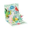 Die Werkstatt GmbH Popshots képeslap, mini, Birthday Parrots, papagájos