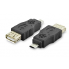 Digitus ASSMANN USB 2.0 HighSpeed Adapter microUSB B M (plug)/USB A F (jack) black