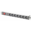 Digitus Professional Steckdosenleiste mit Aluminiumprofil und Schalter, 7-fach, 2 m Zuleitung Schukostecker